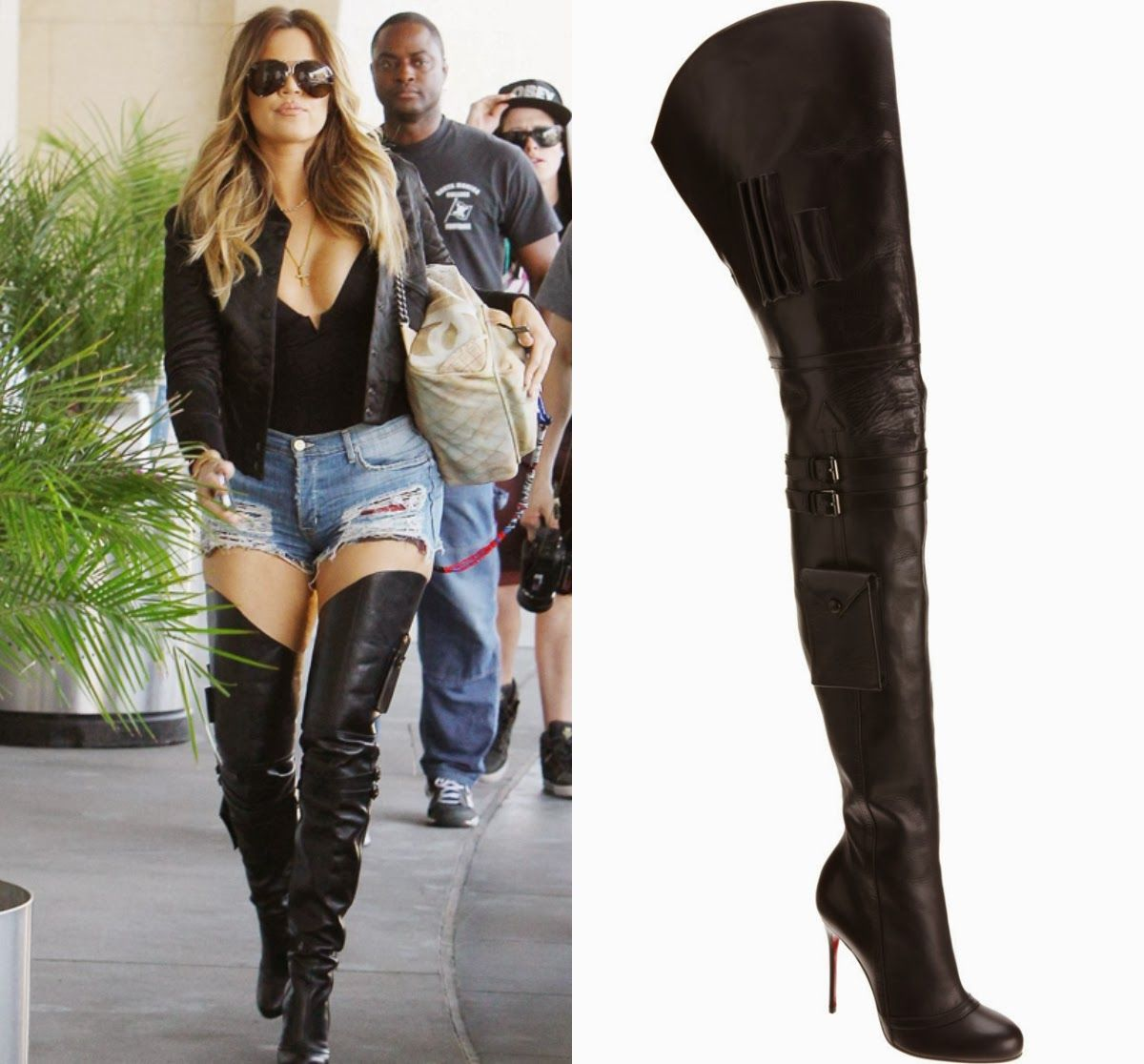Women Motorcycle Thigh High Boots Black Leather Sexy | Boots ...