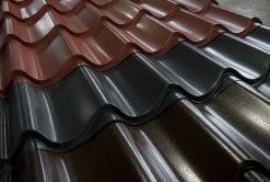 Tile Effect Roofing Sheets For Sheds Garages Etc They Look Great Just Like Clay Tiles But Easier To Fit Roofing Sheets Steel Roofing Sheets Galvanized Roofing