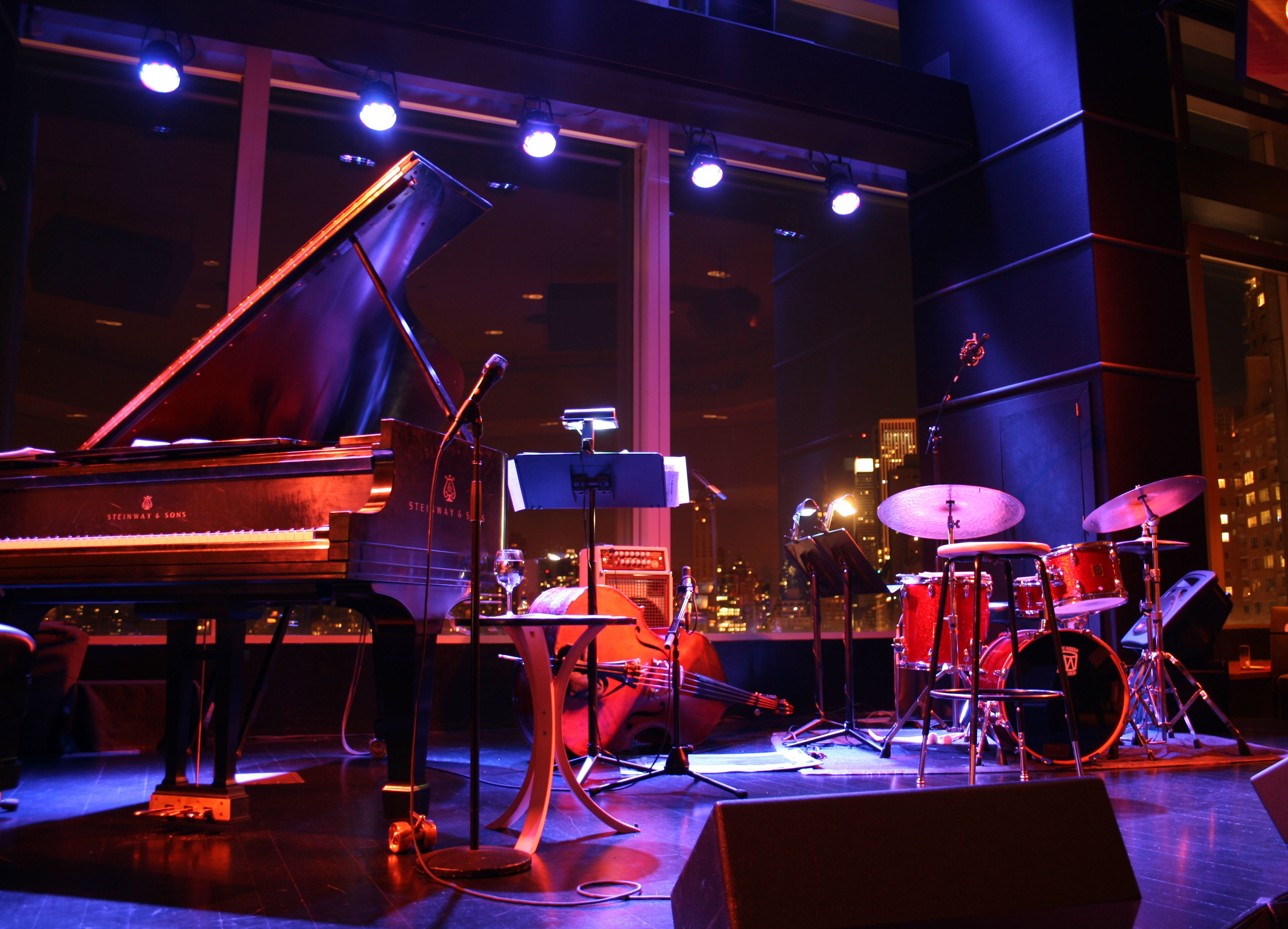stage lighting jazz lounge jazz bar