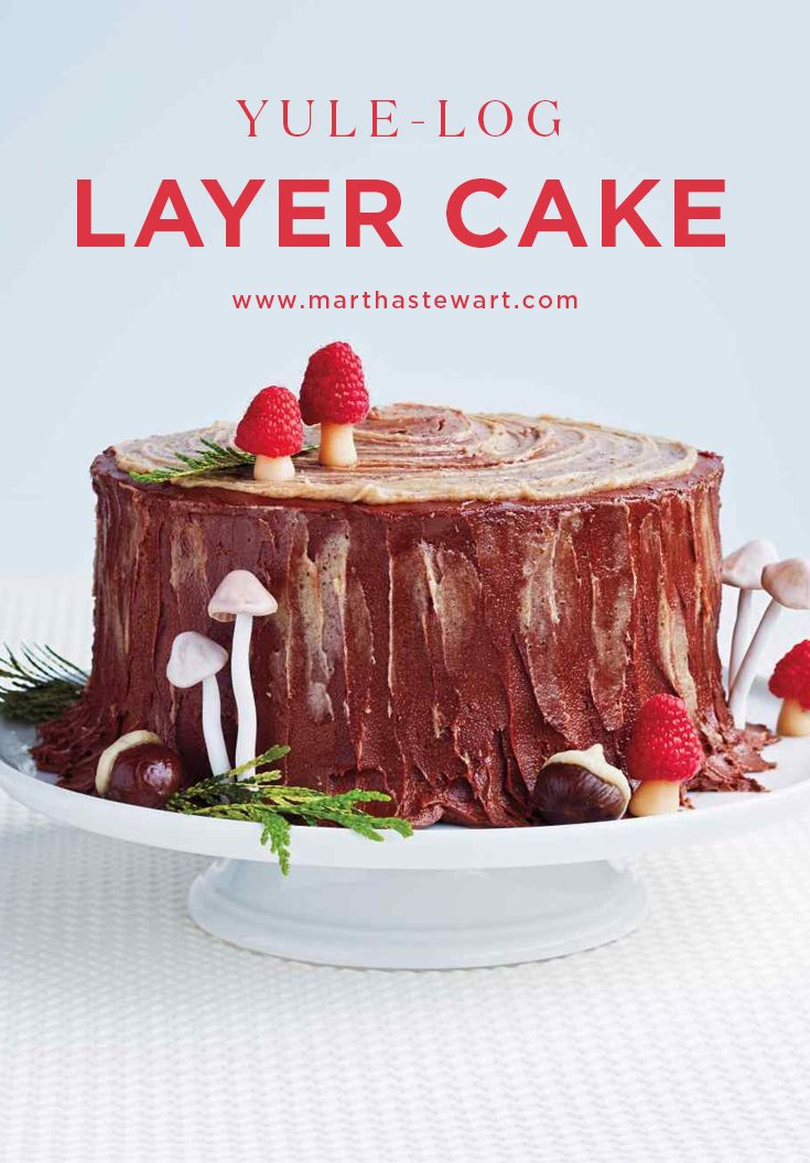 Yule Log Layer Cake Recipe Cake Decorating Cake Yule Log Cake