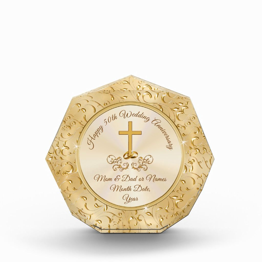 Christian golden anniversary gifts for parents