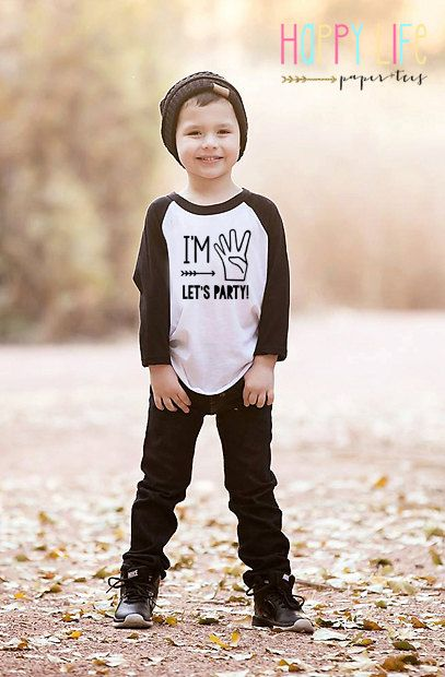 Im FOUR Birthday Lets Party Shirt By Myhappylifedesigns