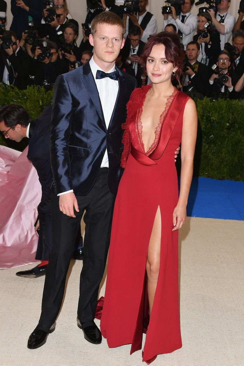 Lucas Hedges and Olivia Cooke wearing Burberry at the Met Gala in New York
