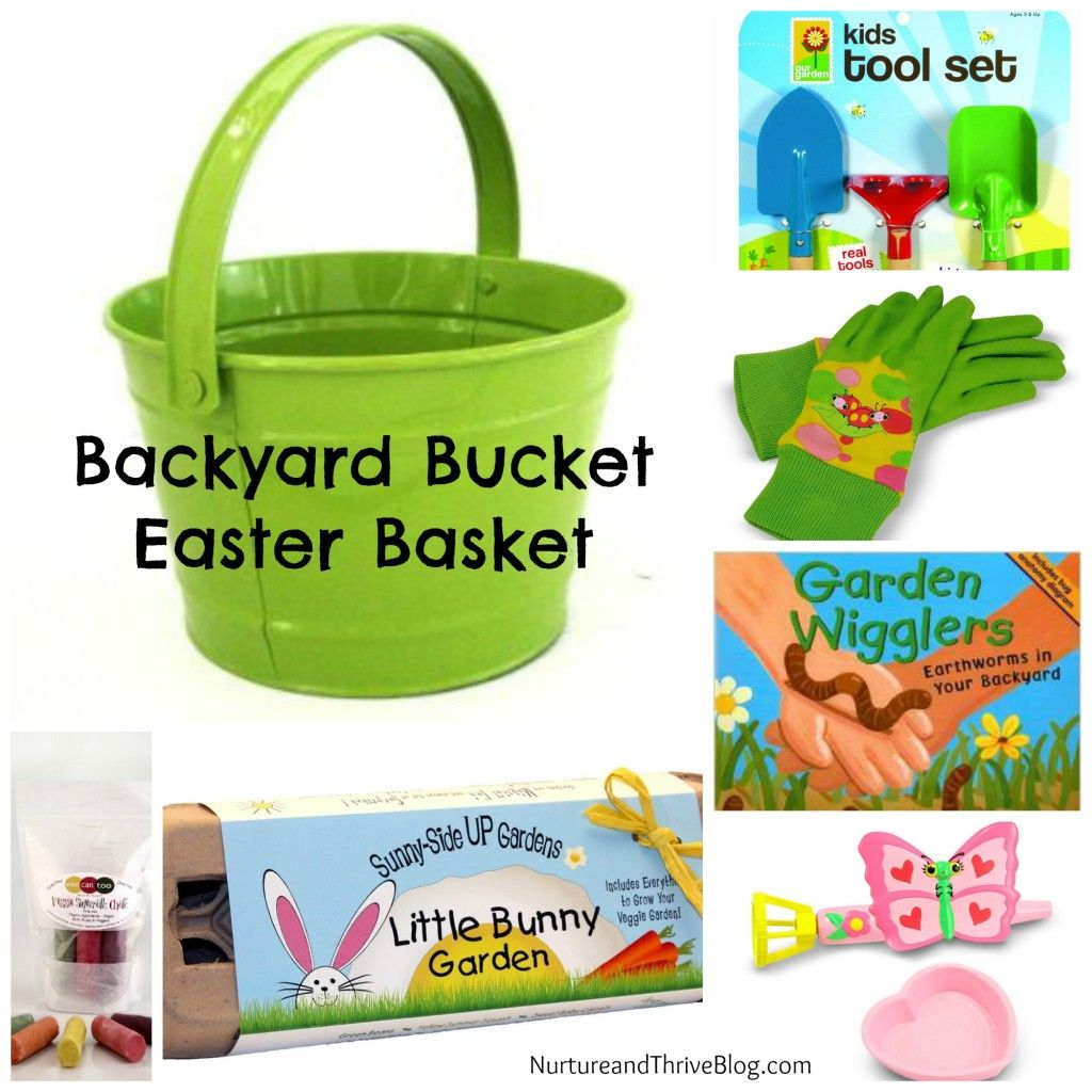 Two nature themed easter basket ideas basket ideas easter baskets nurture kids easter basket ideas backyard bucket nurture and thrive blog negle Images