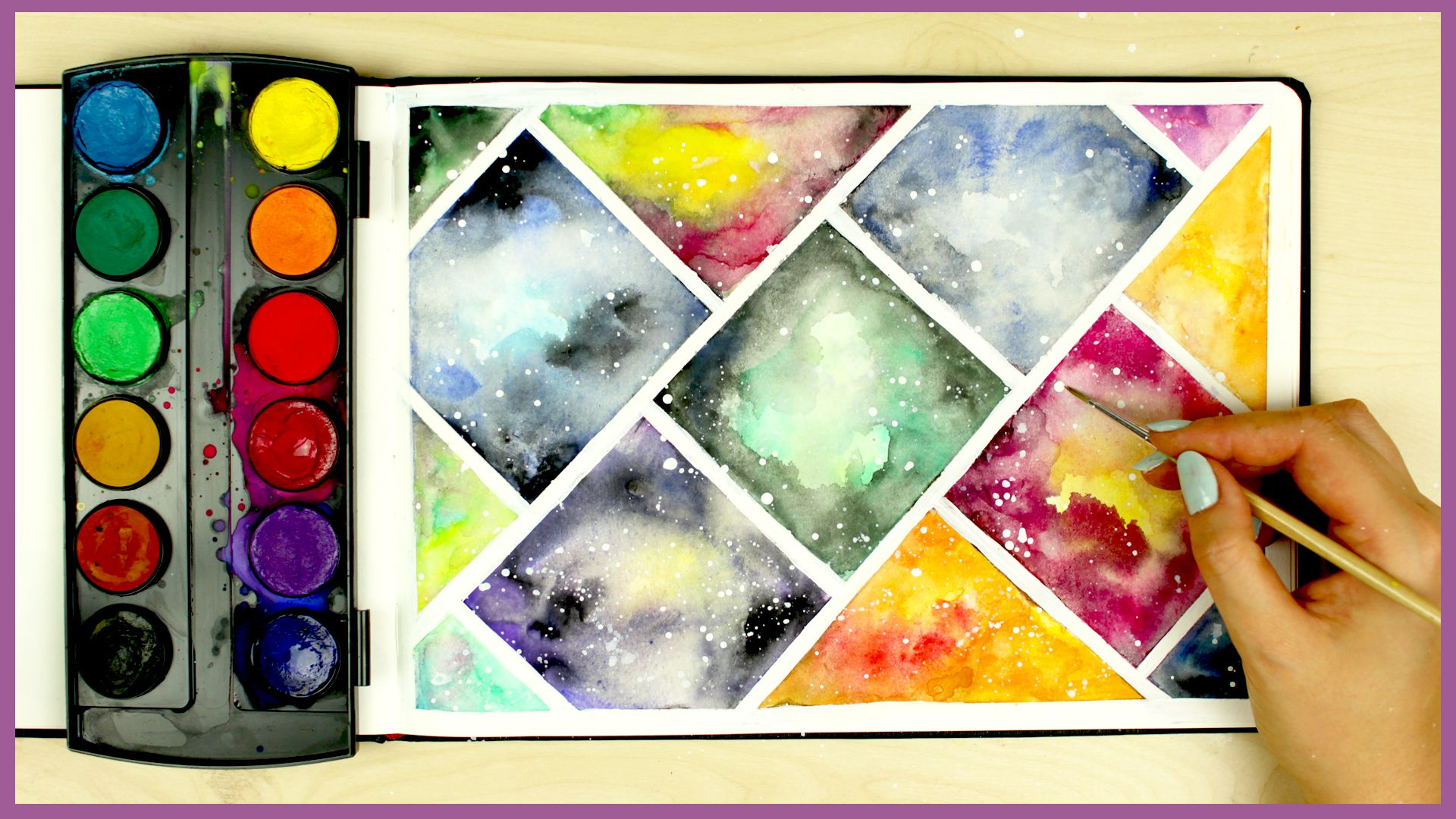 How To Paint A Galaxy Using Cheap Watercolors Watercolor Art Diy