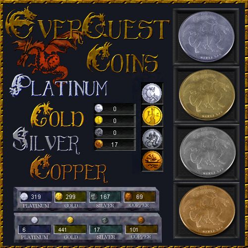 EverQuest Coins Platinum Gold Silver Copper