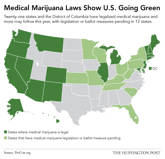 This Map Shows Just How Quickly America Has Embraced Marijuana