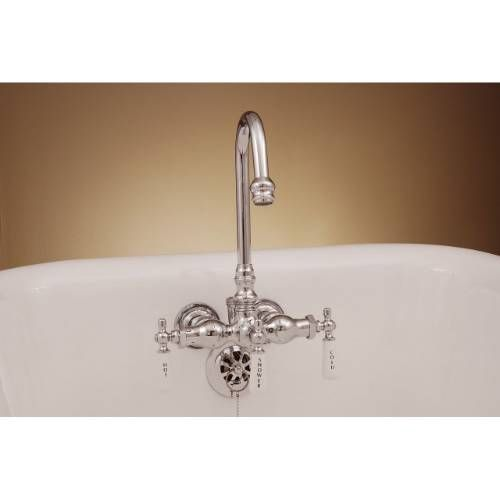 Sign Of The Crab P0400 Gooseneck Clawfoot Tub Faucet With Diverter