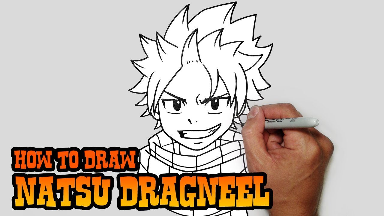 How To Draw Natsu Fairy Tail Video Lesson Natsu Fairy Tail Fairy Tail Video Fairy Drawings