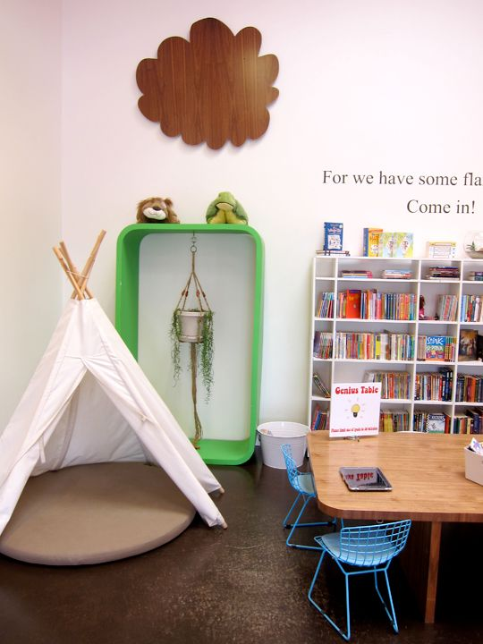 Reading Corner With Tee Pee Tent From Books And Cookies Childrenu0027s Book  Store. So Cute