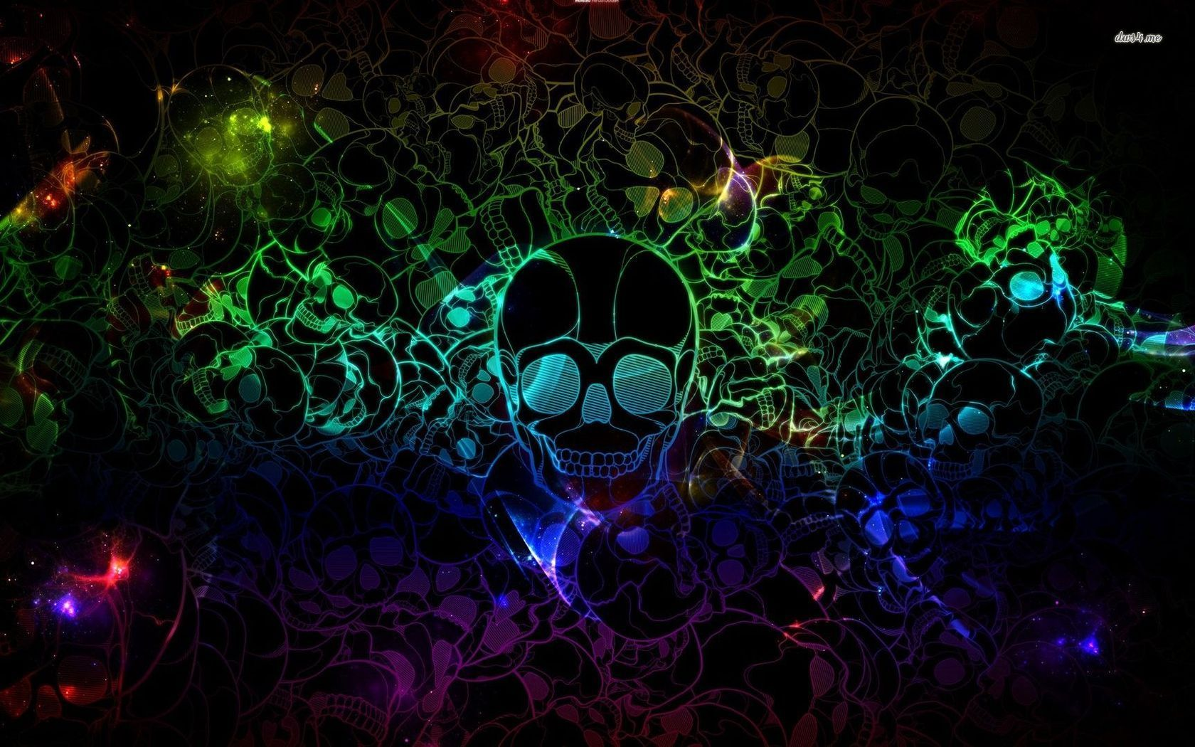 Neon backgrounds neon skulls wallpaper 1280x800 neon - Neon hd wallpaper for mobile ...