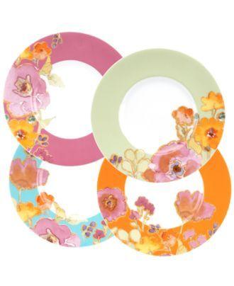 Lenox Dinnerware, Set of 4 Floral Fusion Dessert Plates & Reviews - Dinnerware - Dining - Macy's
