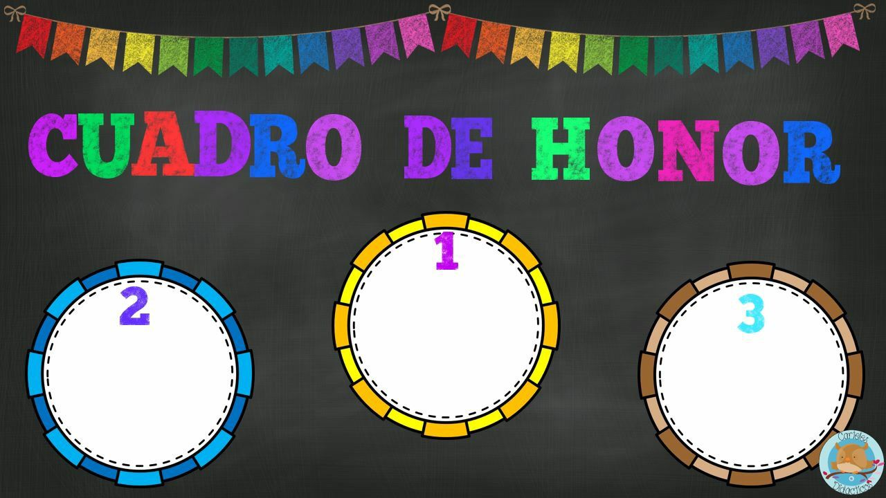 Cuadro De Honor Ingles