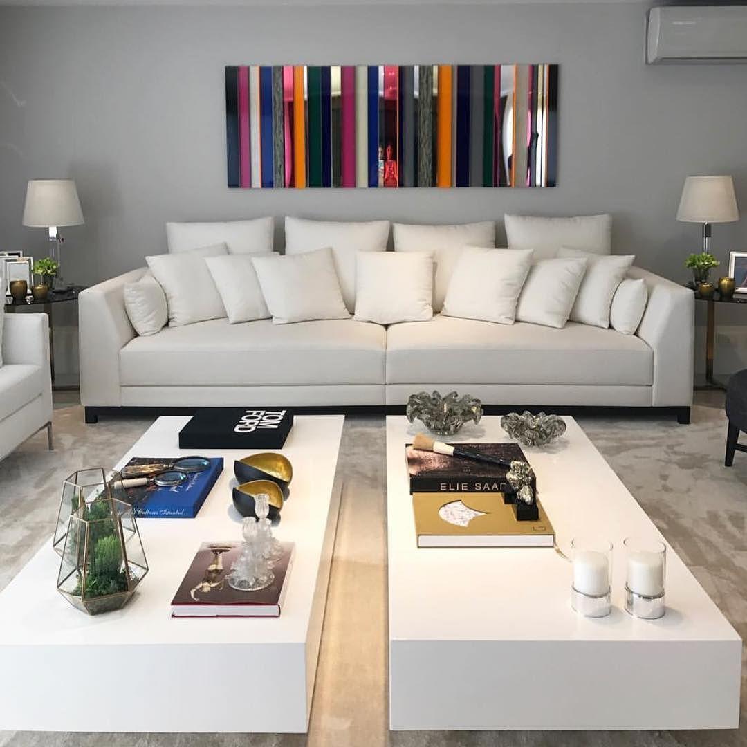 Sala Linda Para Fechar O Dia A Base Toda Em Branco E Cinza Citou  -> Sala Toda Cinza