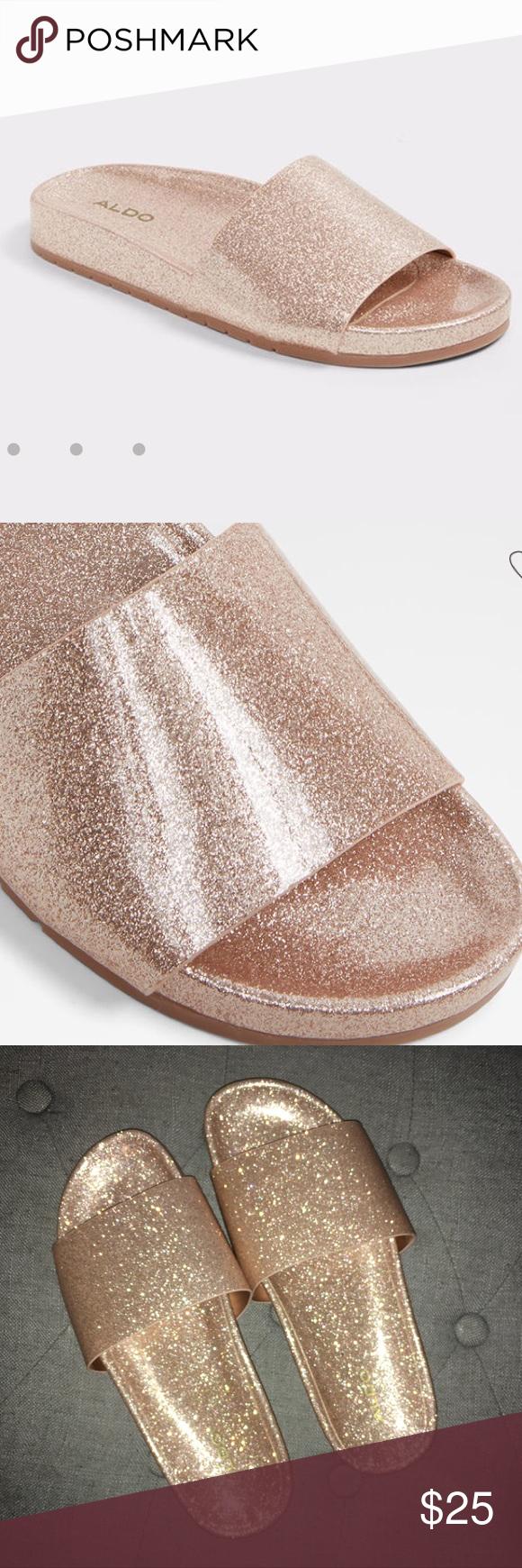 Glitter slides, Aldo, Aldo shoes
