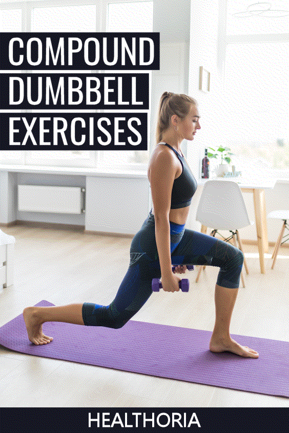 Compound Dumbbell Exercises At Home Workout #dumbbellexercises Adding more compound dumbbell exercis...