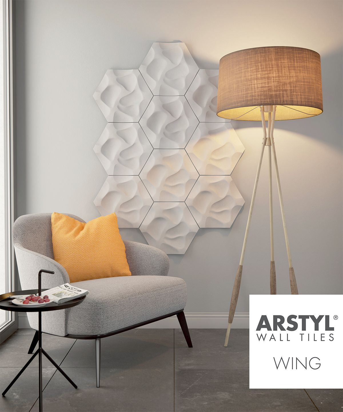 ARSTYL Wall Tiles CORAL livingroom ARSTYL Wall