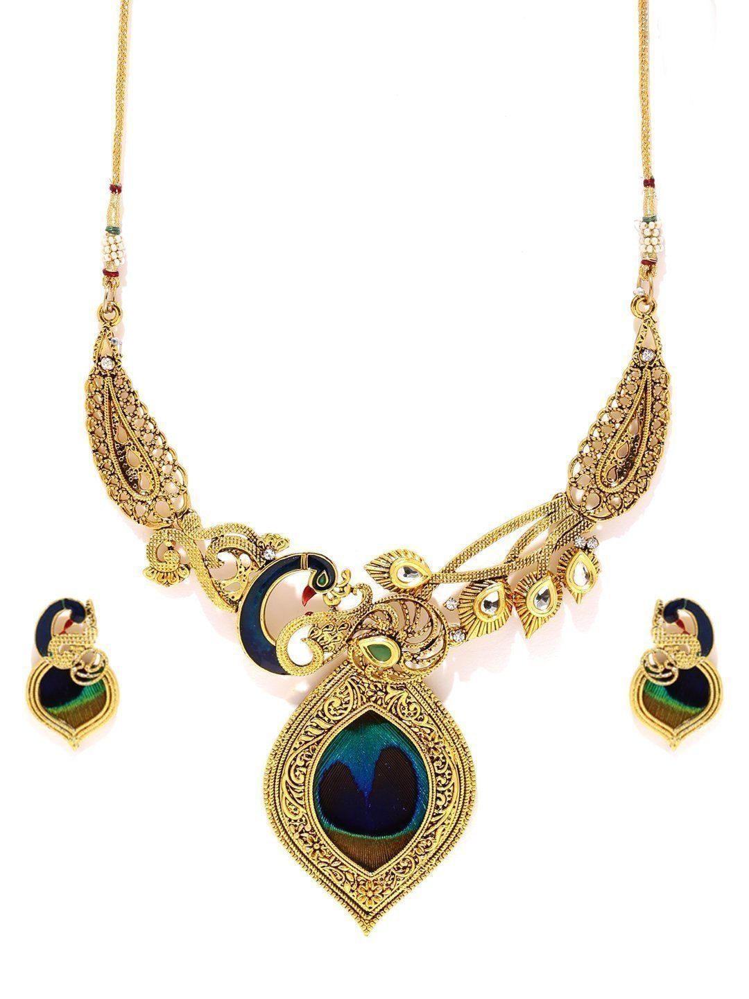 Artisanal Rajwadi Look Necklace Set Zaveri Pearls Jewellery in