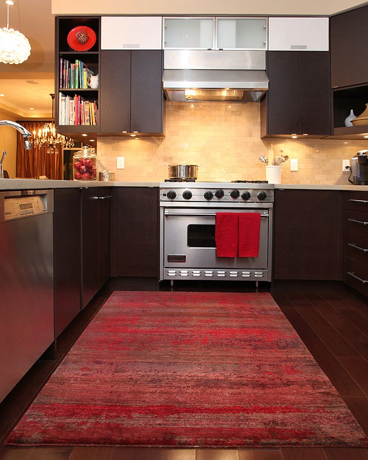 Red Kitchen Area Rugs