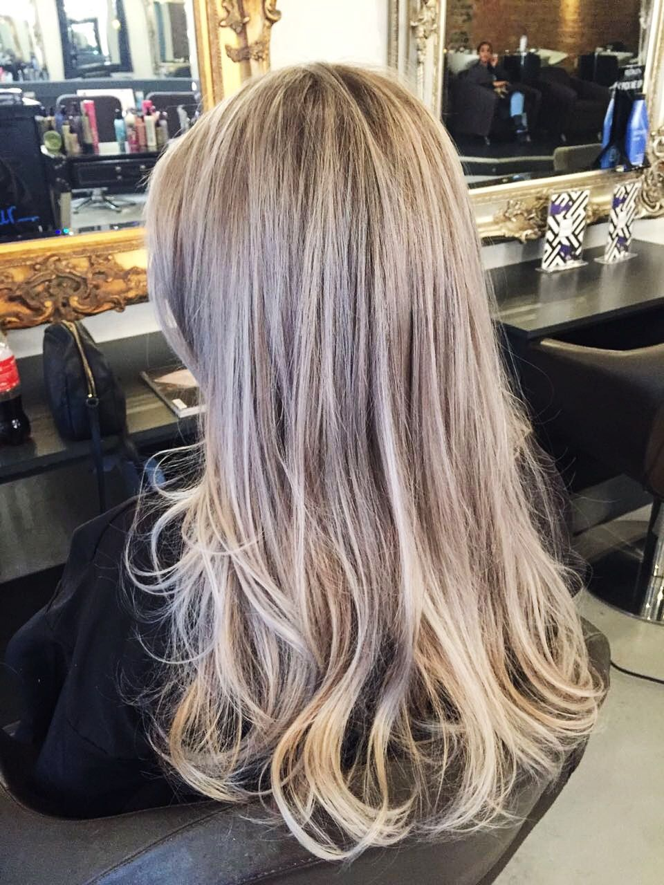 Full Head Blonde Highlights And Billowy Blow Dry London Hairdresser