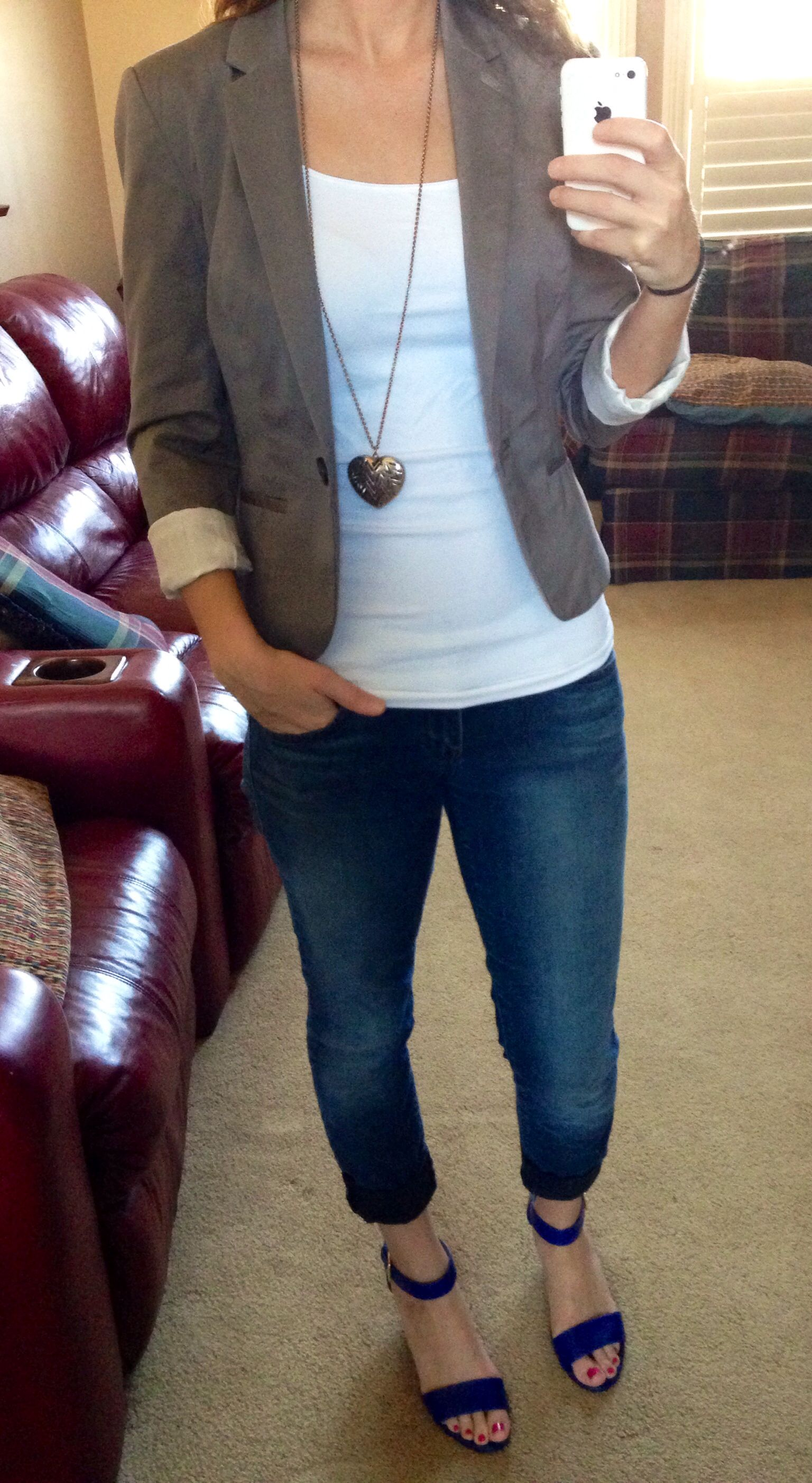 Advertising Business Casual With Payless Shoes H M Jacket And Forever 21 Jeans Jewelry Spring Fun