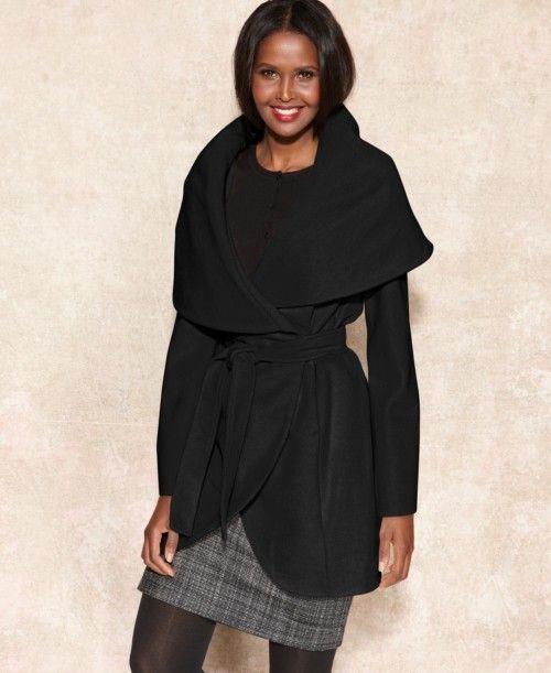 Tahari Marla Shawl Collar Wrap Coat | Clothing $300