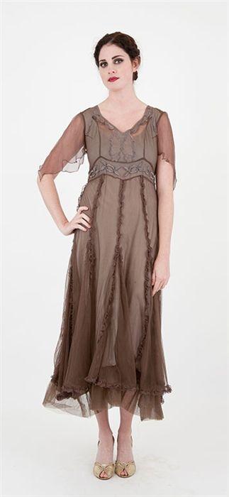 Nataya 40167 Vintage Inspired Dress Fog,Downton Abbey Dresses,Nataya Vintage style dresses,Vintage style dresses,nataya vintage inspired wed...