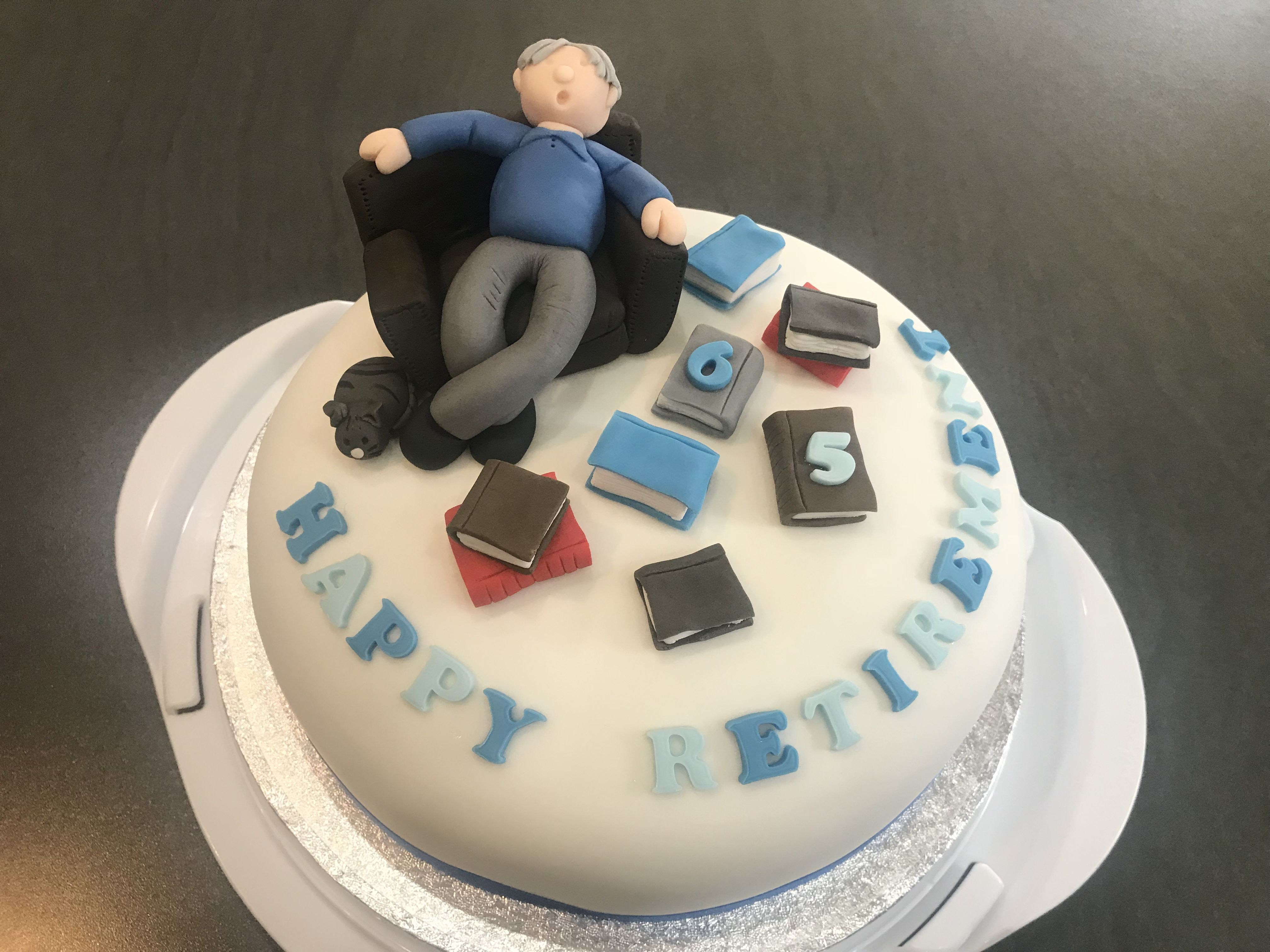 Retirement 65th Birthday Cake Man Snoozing 65 Birthday Cake