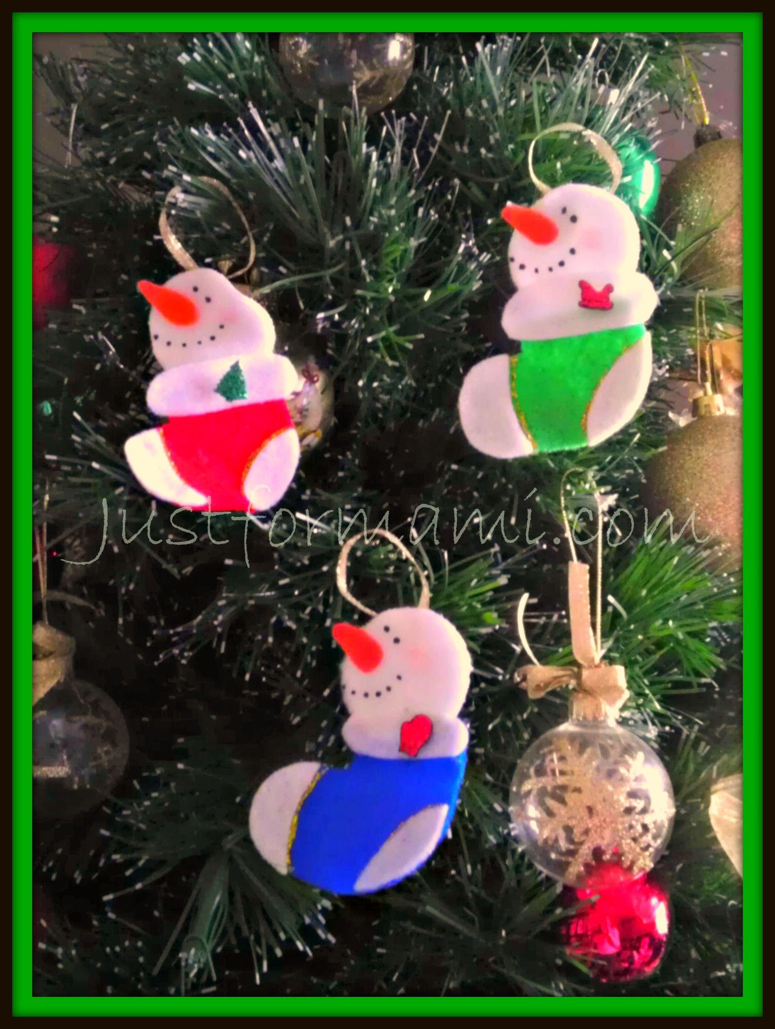 Mu ecos de nieve para rbol de navidad diy pinterest - Decoraciones del arbol de navidad ...