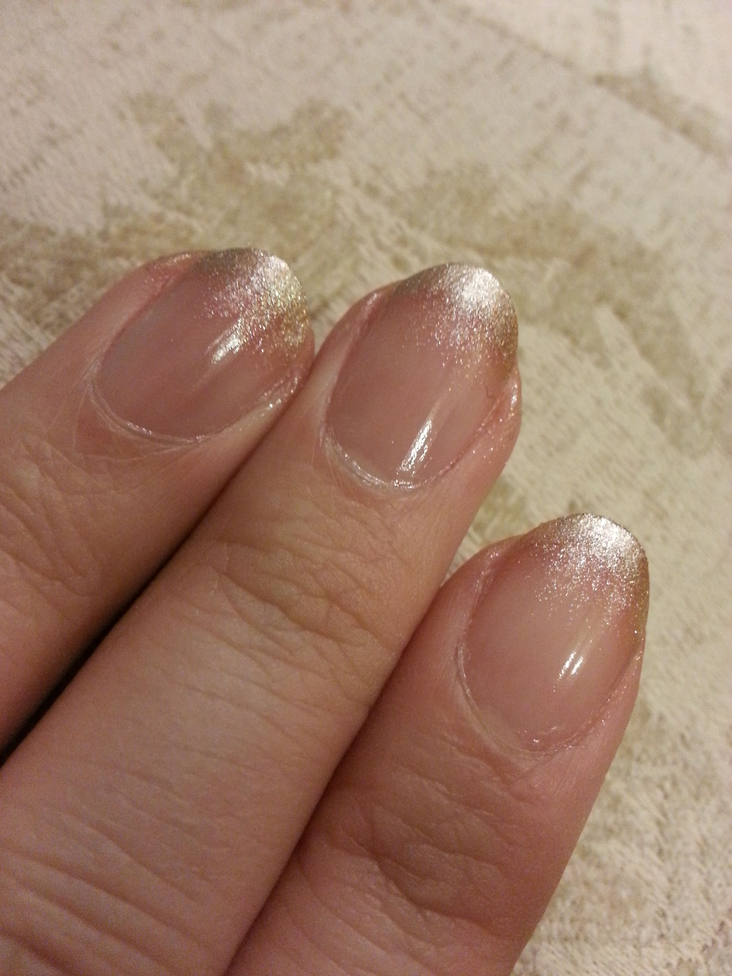 Champagne ombre french mani! Great alternative to the typical french ...