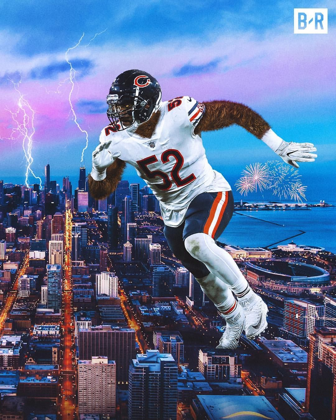 A Sack Fumble In Every Game This Season Khalil Mack Has Been A Terror Chicago Bears Pictures Chicago Bears Football Chicago Sports Teams