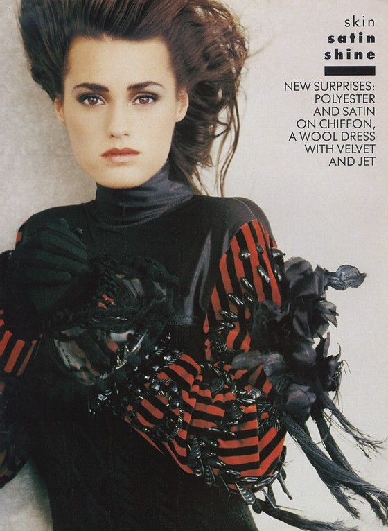 """Skin Satin Shine"" Yasmine Le Bon by Peter Lindbergh - Vogue Oct 1987."