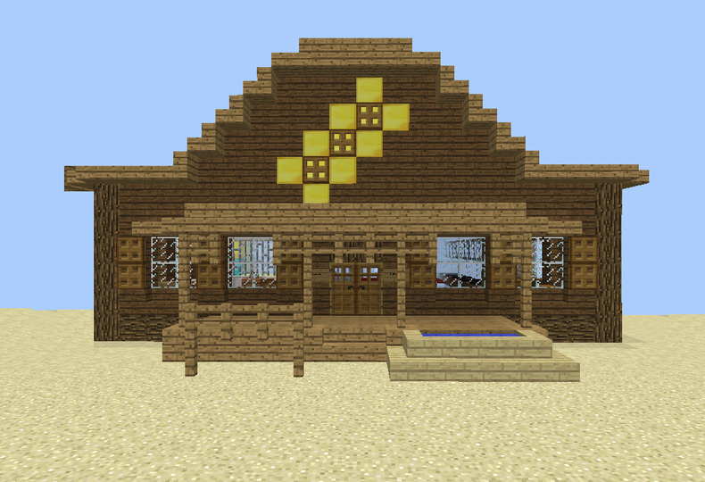 Wild West Bank Grabcraft Your Number One Source For Minecraft Buildings Blueprints Tips Ideas Floorpla Minecraft Minecraft Blueprints Minecraft Designs