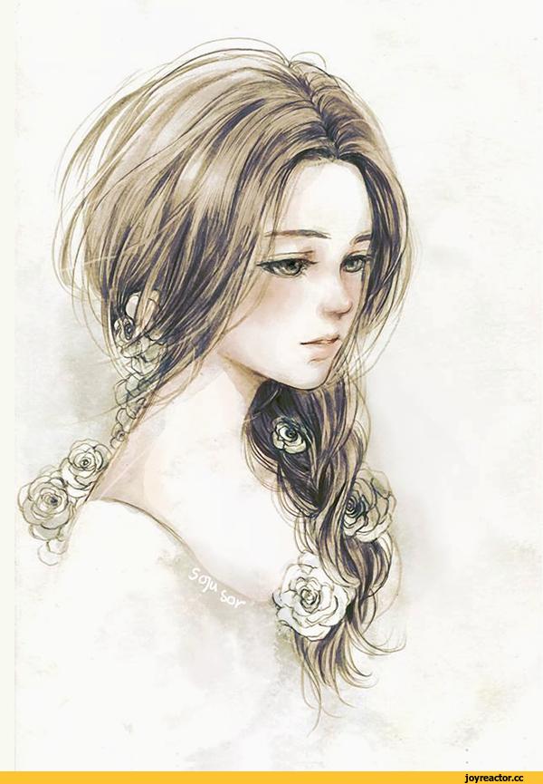 Картинки красивые девушки нарисованные, день матери объемные