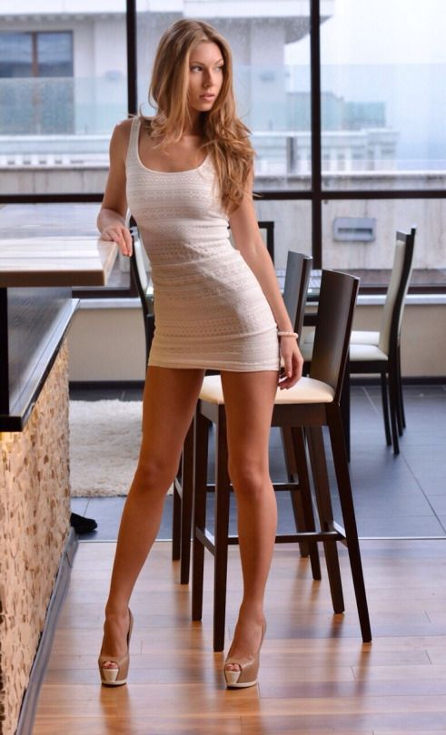 Hotminiskirts Anjelica Ebbi Showing Her Beautiful Long Legs In A Tiny White Dress Check Out Our New Webooh La La Club Battle Of Legs Rate Some