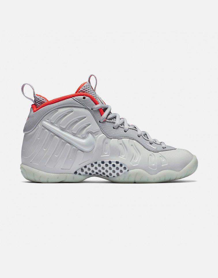 24817877819f4 NIKE LITTLE POSITE PRO  PURE PLATINUM  GRADE-SCHOOL SIZE 5.5Y  Platinum   BasketballShoes