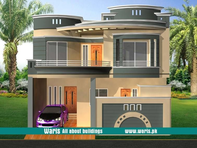 Waris House 3d View Elevation 30x50 In Gujranwala Pakistan House Front Design House Front Duplex House Design