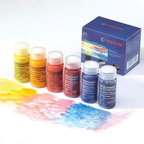 Stockmar Watercolor Paints Set Of 6 20ml Jars Watercolor