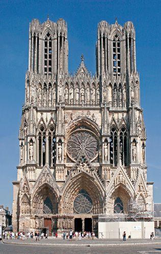 Bien connu Reims, gotycka katedra - katedra aniołów (bogata dekoracja  ON01
