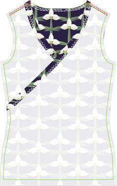 Kostenlose Nähanleitung und Schnittmuster für ein Damen Wickelshirt