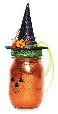 Halloween Jack-O-Lantern Mason Jar