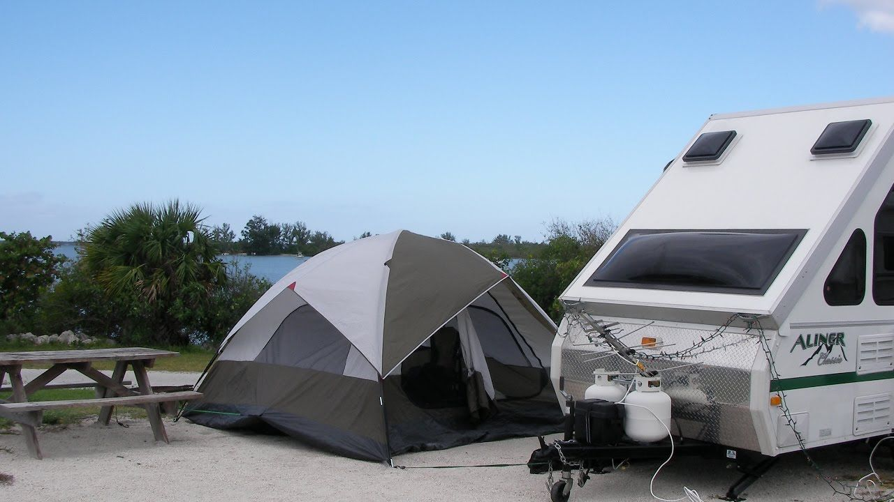 10 Tips And Tricks For An Aliner A Frame Or Small Rv Trailer Small Rv Camping Trailer For Sale Recreational Vehicles