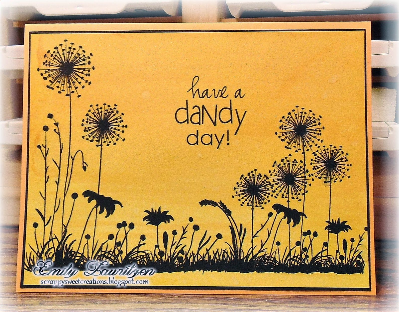 Scrappy Sweet Creations: Dandy Wishes - Paper Makeup Stamps
