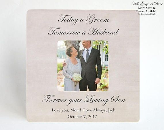 Mother of the Groom Gift PICTURE FRAME Custom Gift to Mom from Son ...
