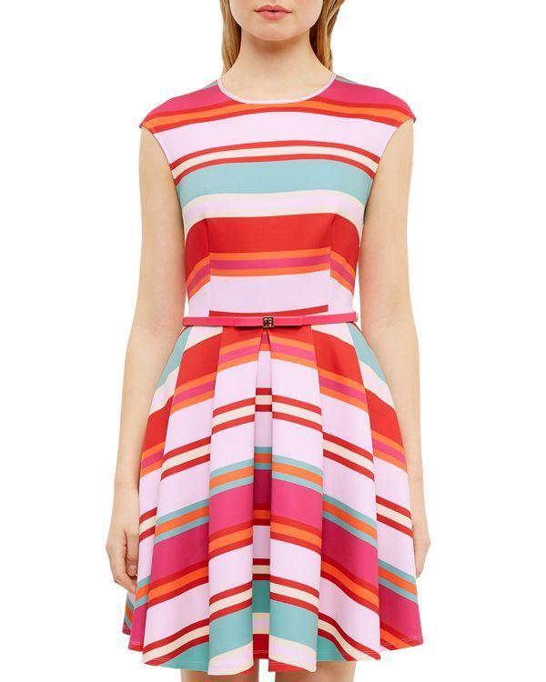 Ted Baker Pier Stripe Skater Dress | • spring & summer style ...