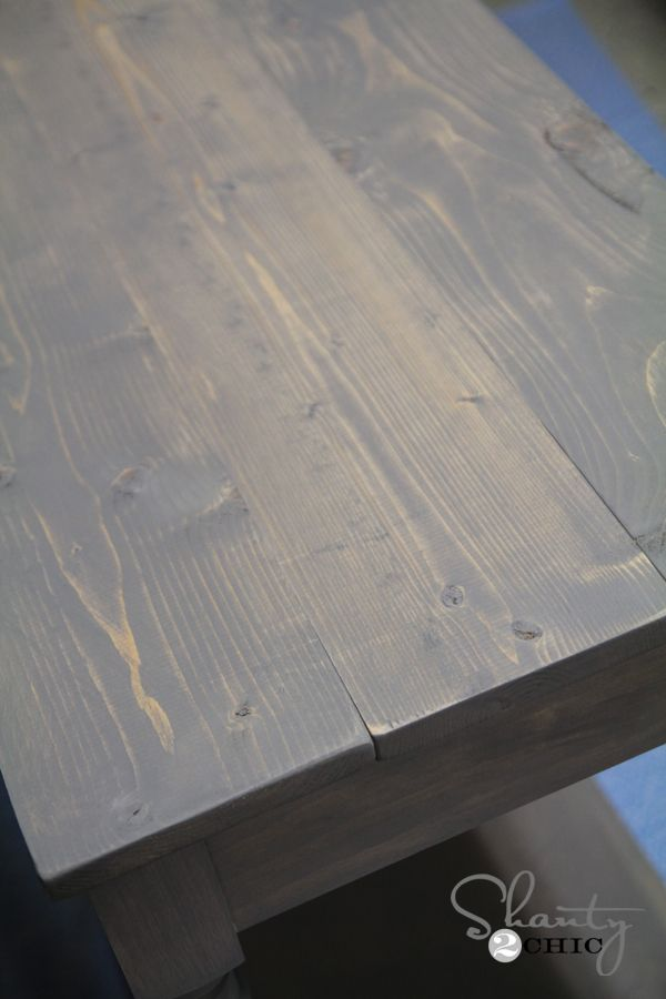 Best Free Woodworking Plans Diy Console Table Gray Stained 400 x 300