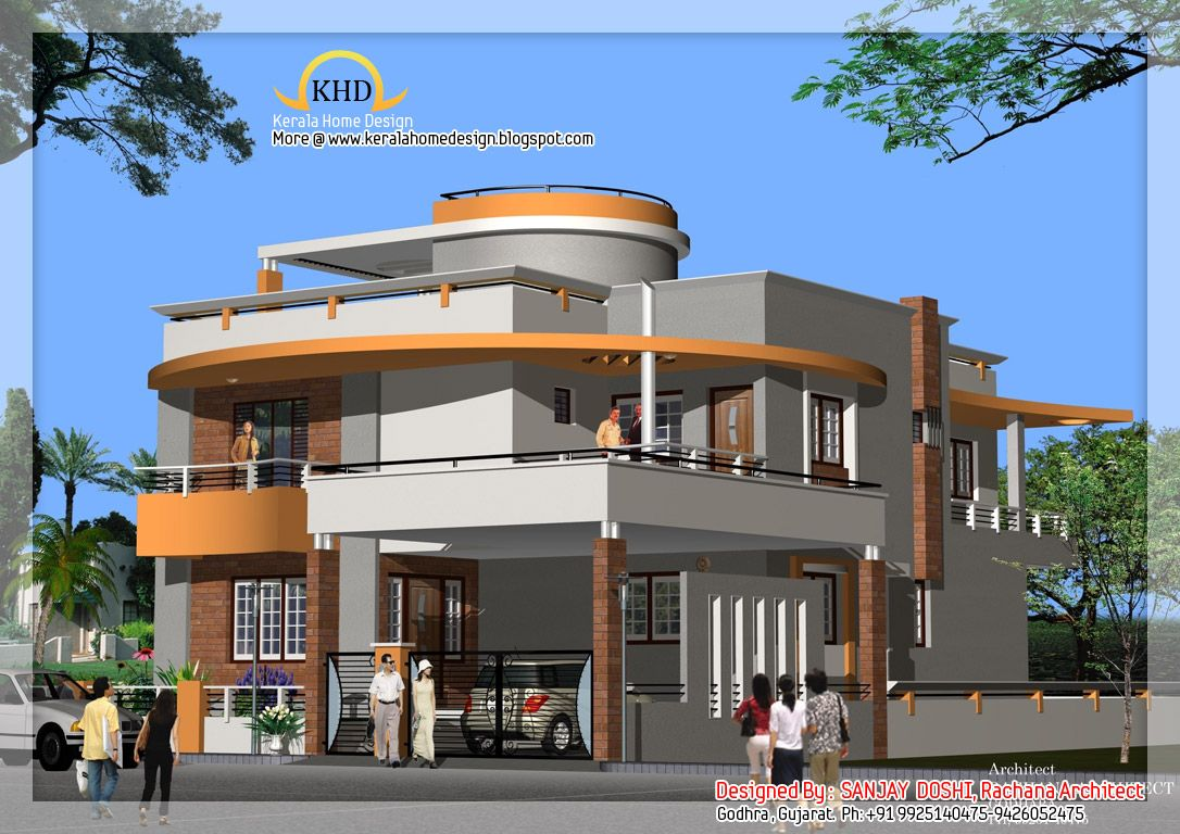 Duplex house design duplex house plan and elevation for Duplex designs india