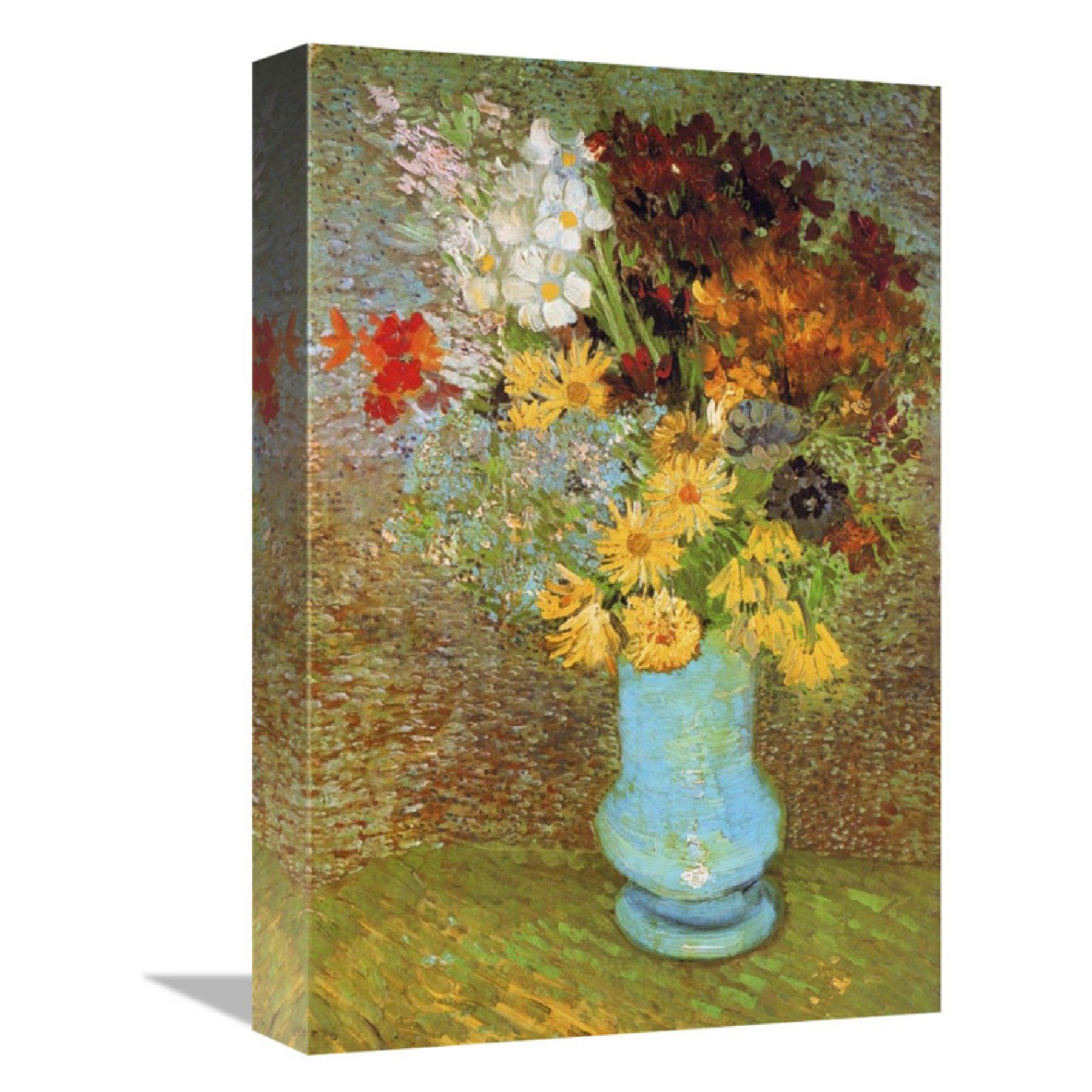 Global Gallery Vase Daisies And Anemones Wall Art  Gcs 374582 16 142