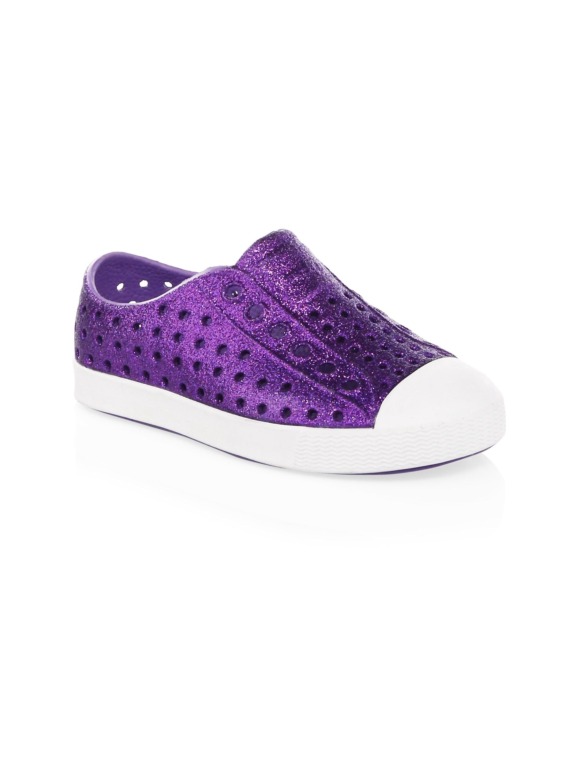 2c208860736d Native Shoes Kids Toddler s   Girl s Jefferson Child Bling Slip-On Sneakers  - Metal 5 (Baby)