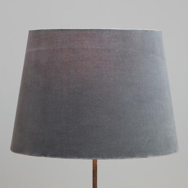 World Market Lamp Shades Gray Velvet Table Lamp Shade  World Market  Tv Room  Pinterest